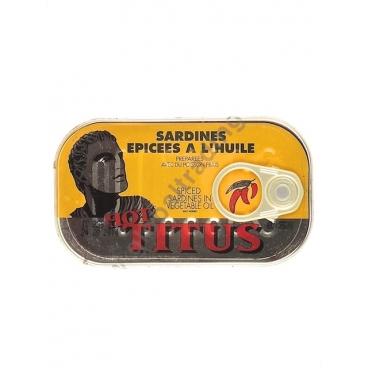 TITUS HOT GIALLO - SARDINE IN OLIO PICCANTE 48x125g