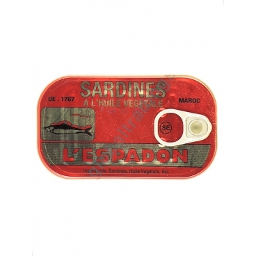ESPADON ROSSO - SARDINE IN OLIO VEGETALE 50x125g