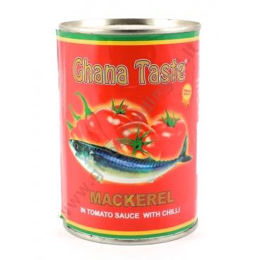 GHANA TASTE MACKEREL - SGOMBRO IN SALSA PICCANTE 24x425g