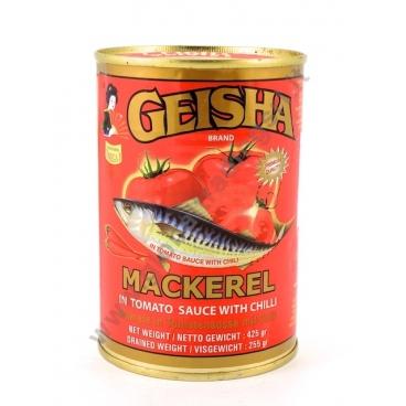 GEISHA MACKEREL TOMATO & CHILLI - SGOMBRI IN SALSA PICCANTE 12x425g