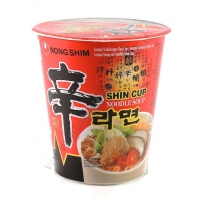 NONG SHIM CUP HOT&SPICY - NOODLES ISTANTANEI 12x75g