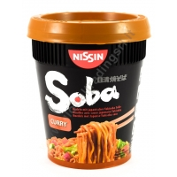 NISSIN CUP SOBA CURRY - NOODLES ISTANTANEI 8x92g