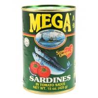 MEGA SARDINES GREEN - ALACCE IN SALSA DI POMODORO 24x425g