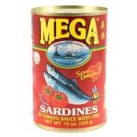MEGA SARDINES RED - ALACCE IN SALSA PICCANTE 24x425g