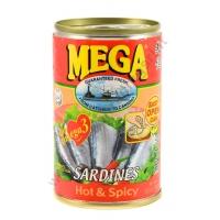 MEGA SARDINES HOT & SPICY - ALACCE IN SALSA PICCANTE 48x155g