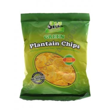 Olu olu plantain chips green snack al platano salato for Jj fish and chips
