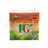 PG TIPS TE' DETEINATO BUSTINE (40 bags) 6x125g