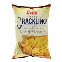 OISHI RIBBED CRACKLING SALT&VINEGAR - SNACK SALATO 30x100g