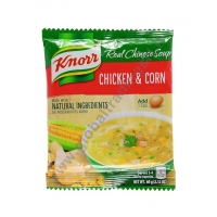 KNORR CHICKEN & CORN NOODLE SOUP - ZUPPA ISTANTANEA 60x60g