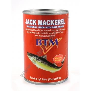 BTM JACK MACKEREL NATURAL - SUGARELLI AL NATURALE 24x425g